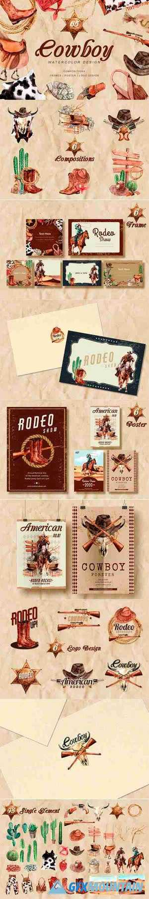 The Story of Cowboy Hero Watercolors Set 5637178