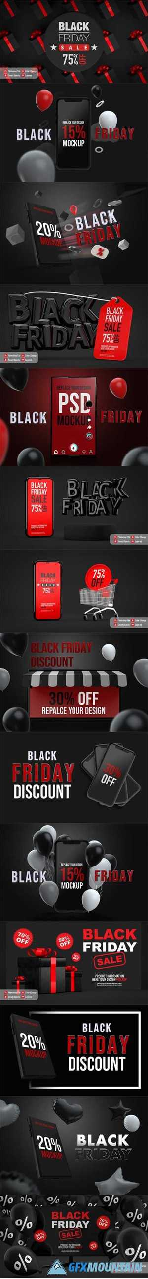 Poster black friday mockup