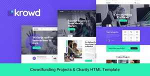 Krowd v1.0 - Crowdfunding Projects Charity HTML Template [themeforest, 27583110]