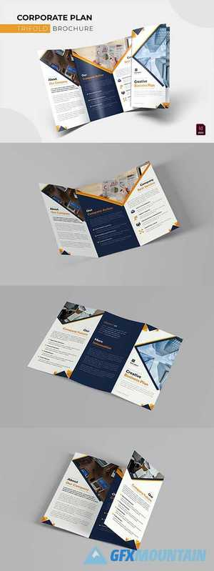 Corporate Plan Trifold Brochure