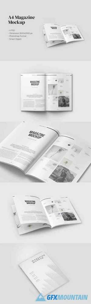 Magazine PSD Mockup with A4 Size