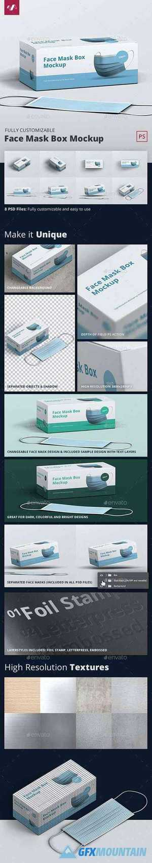 Face Mask Box Mockup 28890006