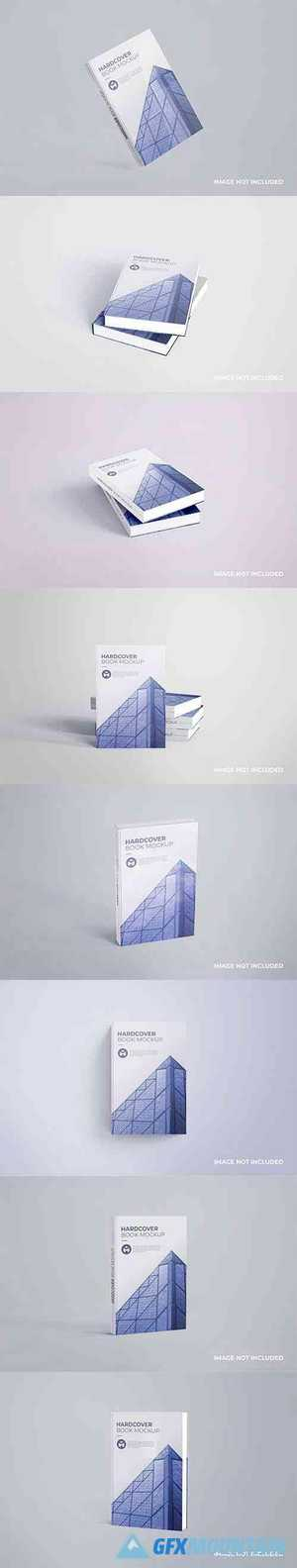 Realistic hardcover book mockup