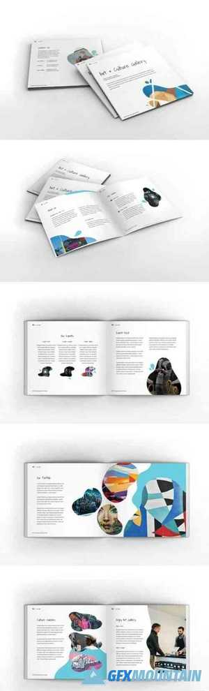 Art Gallery Square Brochure Template 6090324