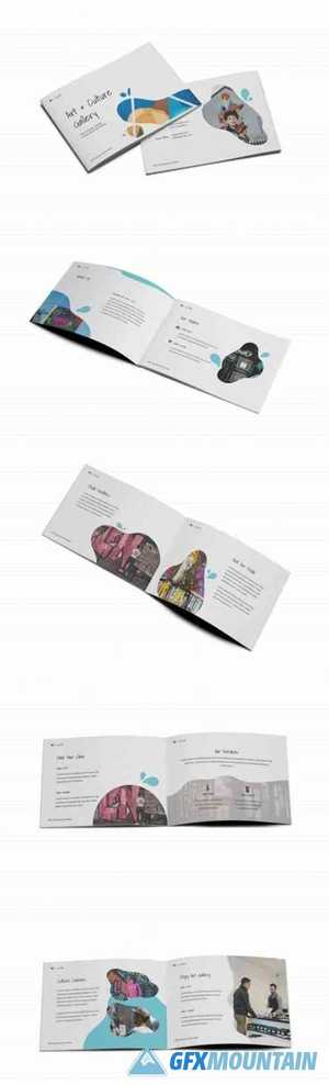 Art Gallery A5 Brochure Template 6090295