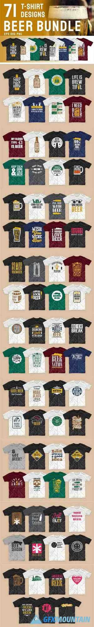Beer Slogan T-shirt Designs Bundle 5764031