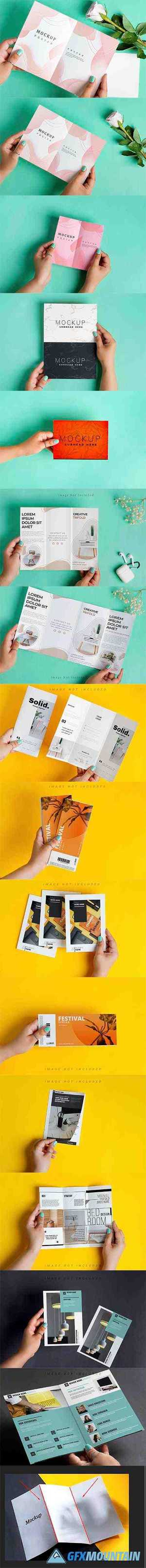 Brochure Mockup in Hand Kit 5204874