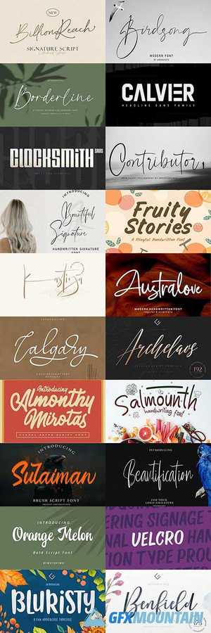 Download 20 Super Creative Fresh Fonts in 1 Pack » Free Download ...