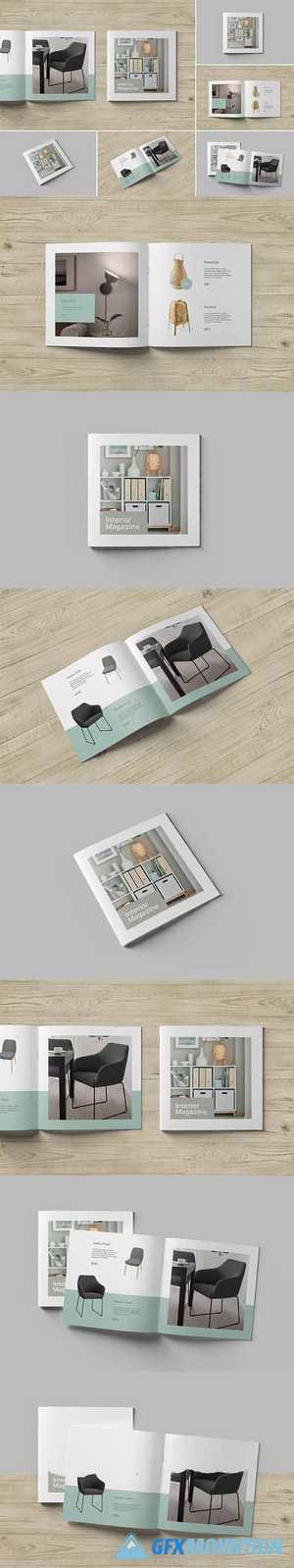 Square Brochure and Catalog Mockups 5487730