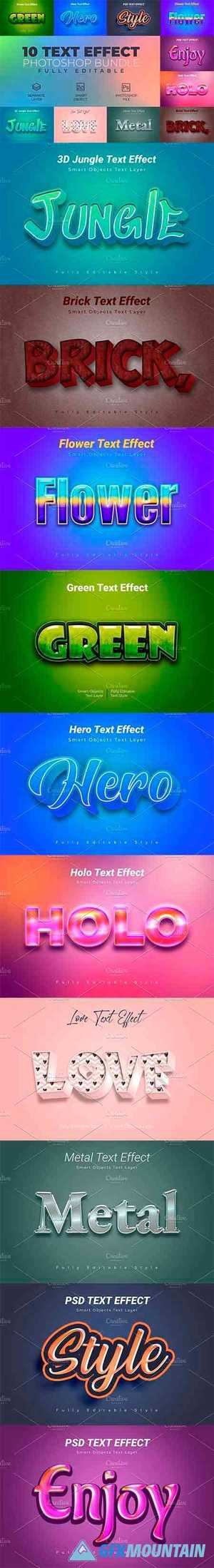 Photoshop Text Effect Bundle 10 in 1 4524356