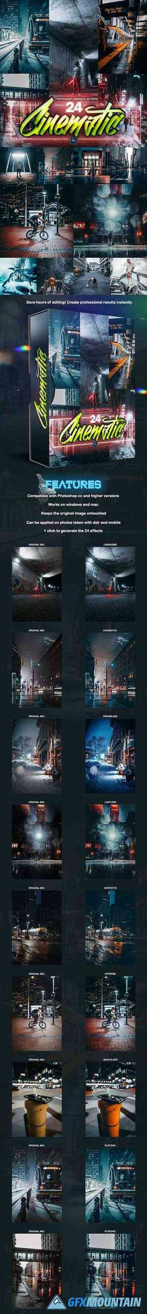 24 Cinematic PRO Photoshop Actions 28734799