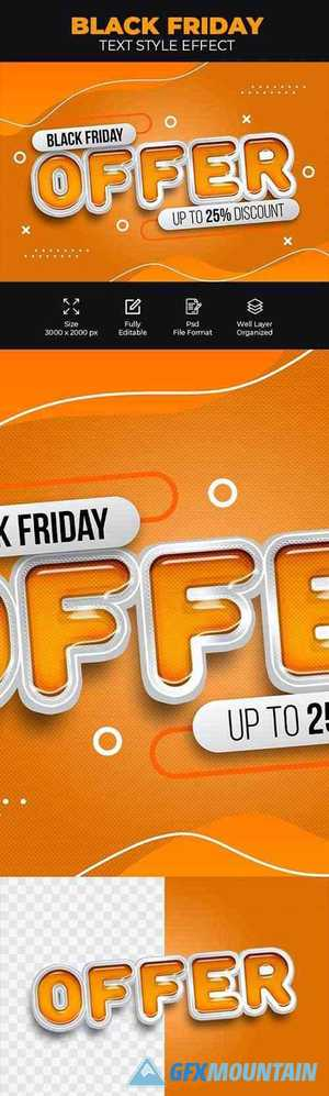 Black Friday Offer Psd Text Style Effect 28586993