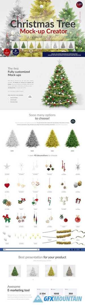 Christmas Tree Creator Mock-up 5580357