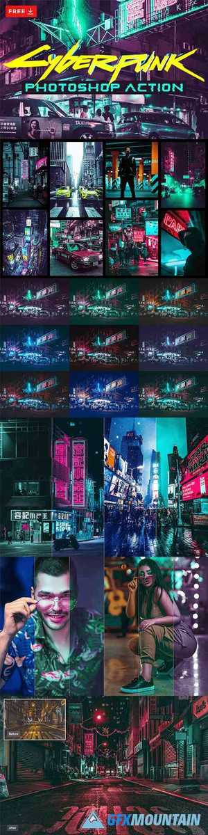 Cyberpunk Effects - Photoshop Action