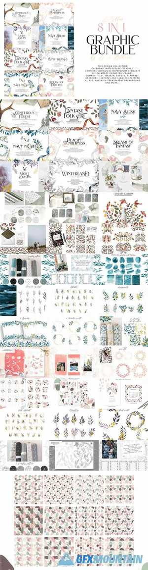 8 in 1 Graphic Bundle 976933