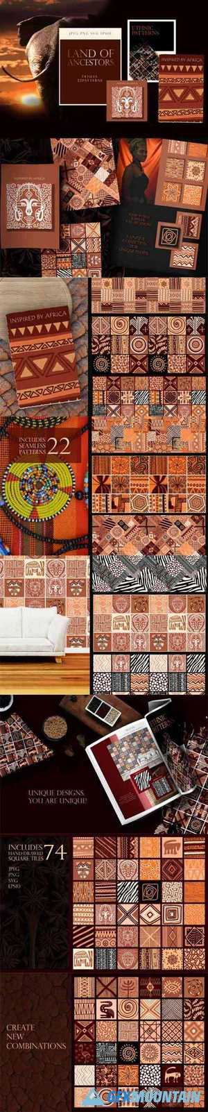 Ethnic African Patterns and Tiles 6559599