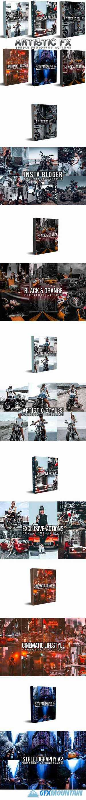 Artistic Bundle (6 in 1) Photoshop Actions 29425595