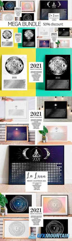 Moon Calendar 2021 MEGA BUNDLE 5635160