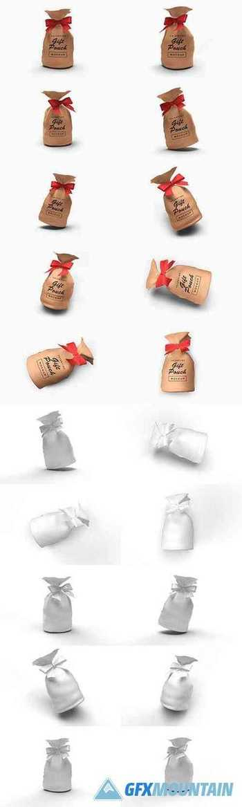 Valentine Gift Pouch Mockup Template Bundle