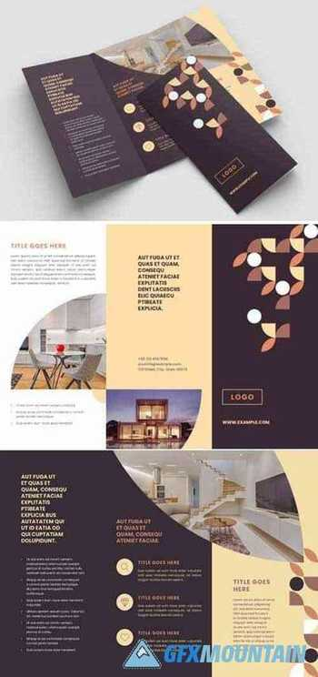 Patterned Trifold Brochure 7858852