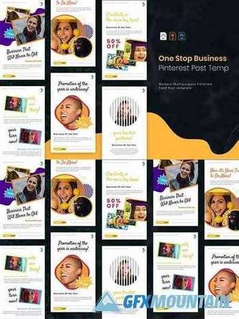 One Stop Business | Pinterest Post Template