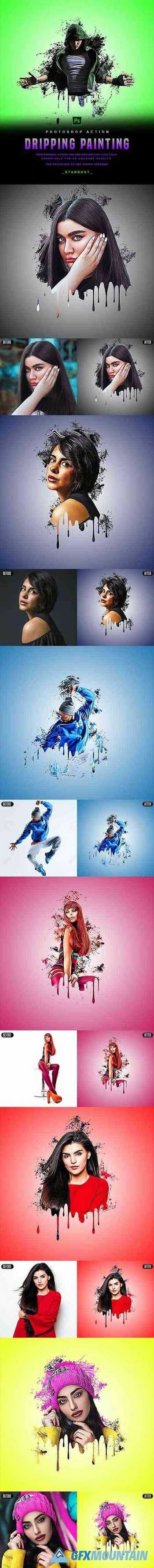 Dripping Painting - Photoshop Action 29878099