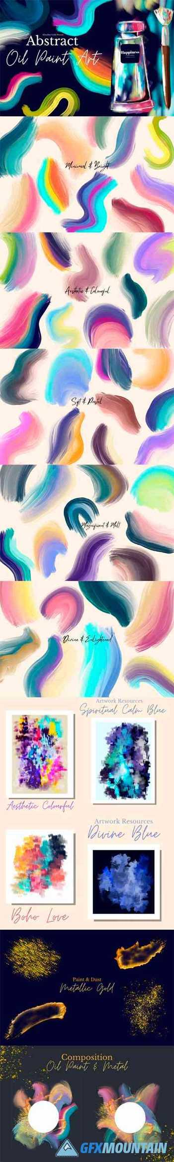 Abstract Oil Paint Art Collection