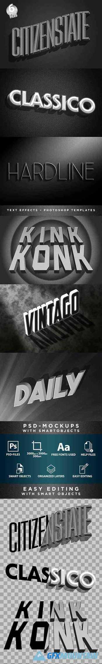 Classic Film Title Cards | 3D Text-Effects/Mockups | Template-Package 29828400