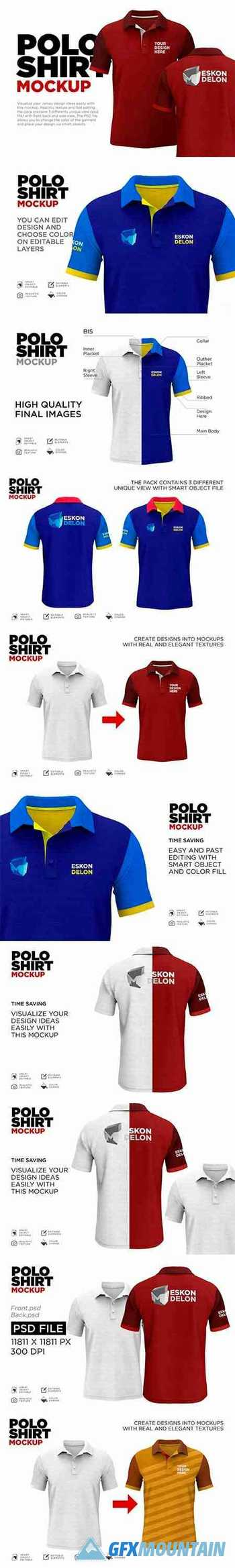 Polo Shirt Mockup Psd 5894833