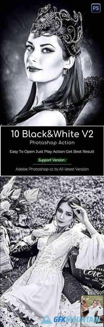 Black & White V2 photoshop action 29944731