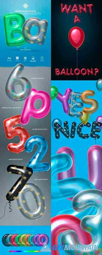 Balloon Text Effect - Premium Collection 30379499