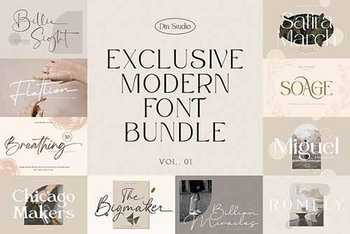 Exclusive Modern Font Bundle 5947720