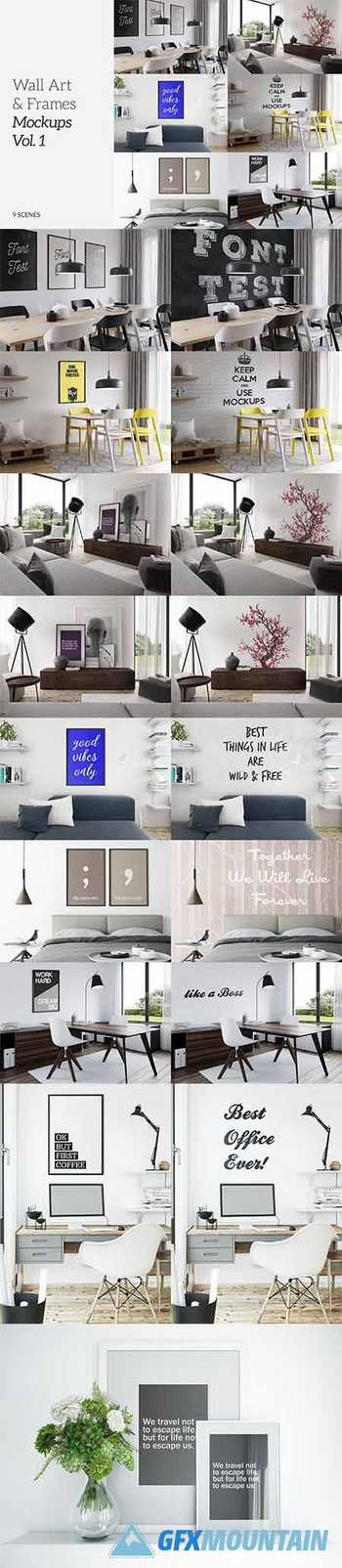 Wall Art & Frames Mockups Vol.1 5981903