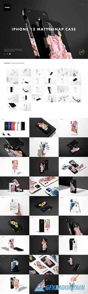 iPhone 12 Matte Snap Case 1 Mockup 6000322