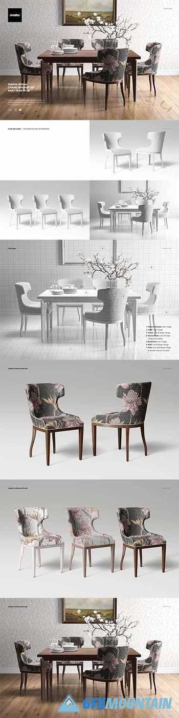 Dining Room Chair Mockup Set 3898381
