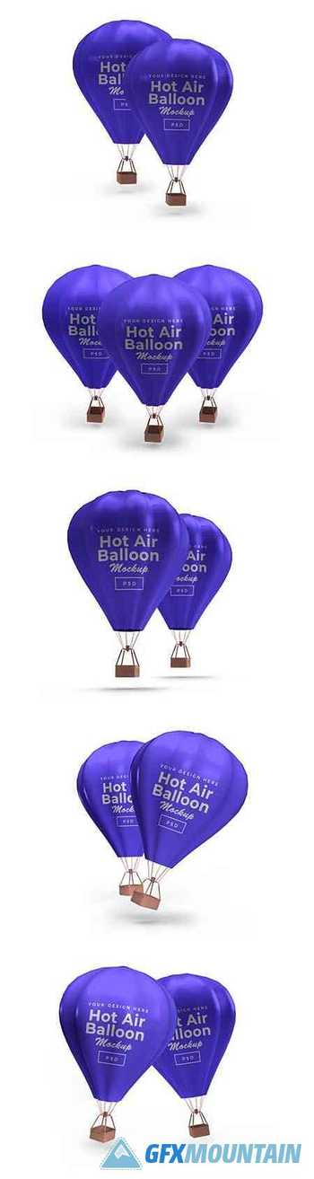Hot air balloon mockup 2