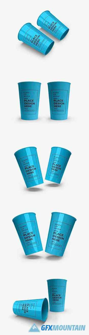 Plastic cup packaging mockup 2