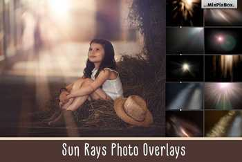 Sun Rays Photo Overlays